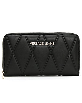 Versace Jeans Quilted Zip Around Wallet