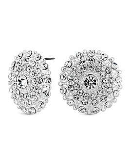 Mood Crystal Disc Stud Earring
