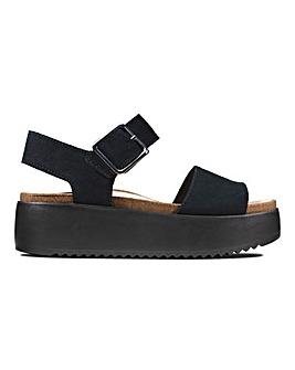 Clarks Botanic Strap Flatform Sandals Standard D Fit