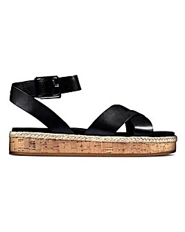 Clarks Ankle Strap Flat Sandals D Fit
