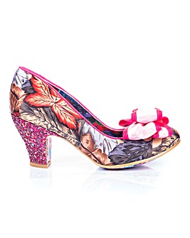 Irregular Choice Ban Joe Bow Detail Court Shoes Standard Fit
