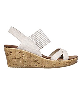 Skechers Beverlee High Tea Wedge Sandals Standard D Fit