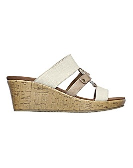 Skechers Beverlee Sail Away Wedge Sandals Standard D Fit