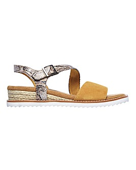 Skecher Desert Kiss Cactus Rose Slingback Sandals Standard D Fit