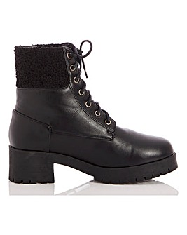 Quiz Lace Up Biker Boots
