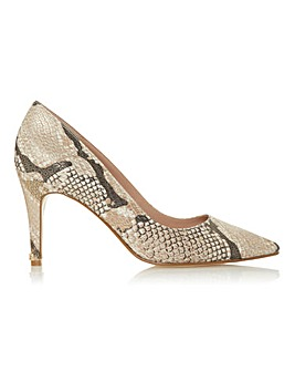 Dune Anna Classic Court Shoes Wide E Fit.