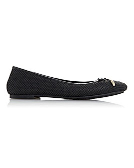 Dune Harpar 2 Slip On Leather Ballerinas Wide E Fit