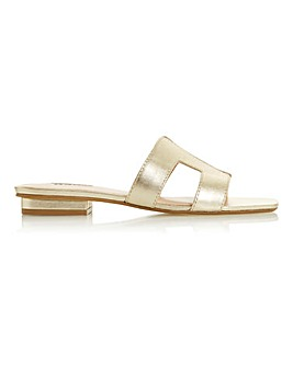 Dune Loupe Slip On Slider Sandals Wide E Fit