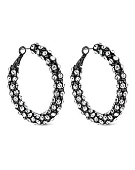 Mood Crystal Statement Hoop Earring
