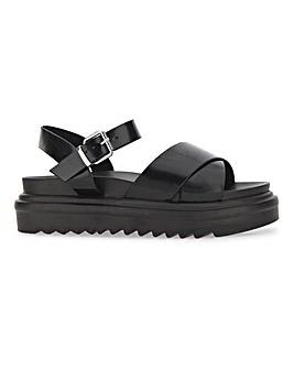 Raid Carmen Chunky Buckle Sandals Wide E Fit