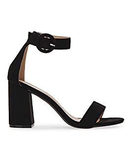 Raid Genna Block Heel Barely There Sandals Wide E Fit