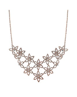Mood Diamante Flower Statement Necklace