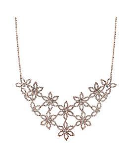 Mood Diamante Flower Statement Necklace