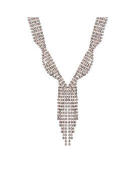 Mood Diamante Tassel Lariat Necklace