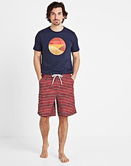 Tog24 Cole Mens Striped Board Short