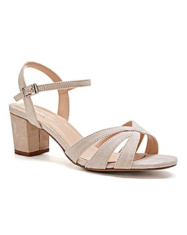 Paradox London Camille Block Heel Sandals Extra Wide EEE Fit