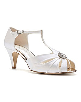 Paradox London Bonnie T Bar Sandals Extra Wide EEE Fit