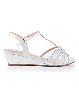 Paradox London Jilly Wedge Sandals Wide E Fit