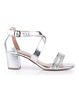 Paradox London Hasina Cross Strap Sandals Wide E Fit