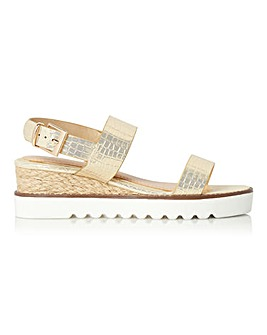 Head Over Heels Kye Two Part Espadrille Sandals Standard D Fit