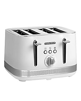 Morphy Richards 248021 Illumination 4 Slice White Toaster