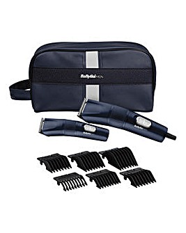 BaByliss For Men 7755BGU Create Your Style Clipper Gift Set
