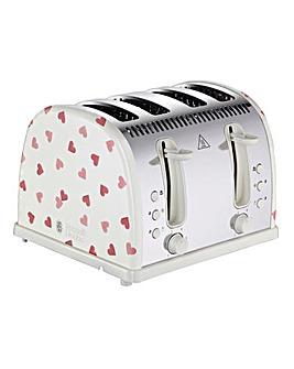 Emma Bridgewater 28350 Pink Hearts 4 Slice Toaster
