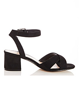 Quiz Block Heel Ankle Strap Sandals