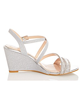 Quiz Wrap Around Wedge Sandals