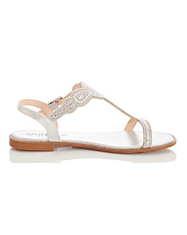 Quiz Occasion Sandals Wide E Fit
