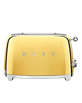 Smeg 2 Slice Gold Special Toaster