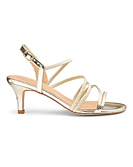 Strappy Heeled Sandals Wide E Fit