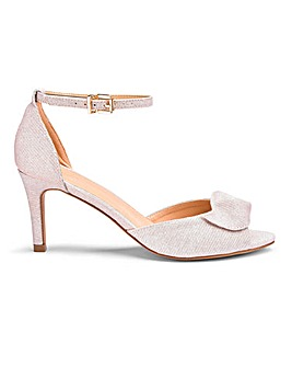 Joanna Hope Swirl Detail Peep Toe Occasion Shoes Wide E Fit