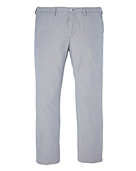 BOSS Green Chambray Stretch Trouser 32in