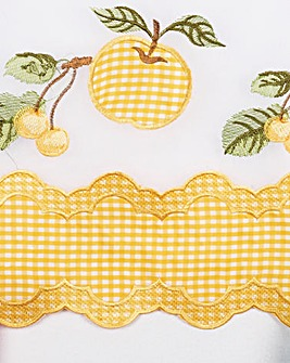 Fruit Gingham Window Set