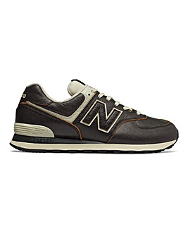 New Balance Leather 574 Trainers