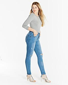 Shape & Sculpt Distressed Skinny Jeans Regular Length