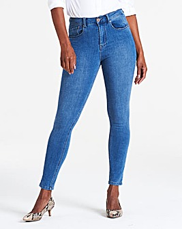 Mid Blue 4 Way Stretch Skinny Jeans