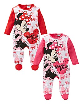 Minnie Mouse Pack Of Two Sleepsuits 766bd182f