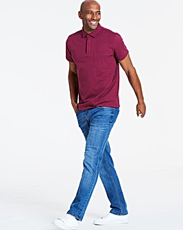 Magenta Stretch Jersey Polo Long