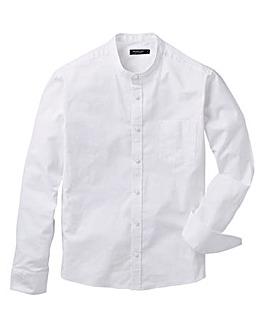 White L/S Grandad Oxford Shirt Long