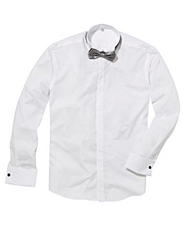 Black Label Wing Collar Dinner Shirt L