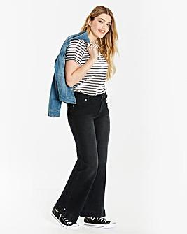 Pixie Wide Leg Jeans Black Long