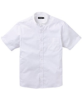 White S/S Stretch Oxford Shirt Long