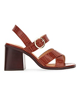 Alaska Buckle Block Heels Extra Wide Fit