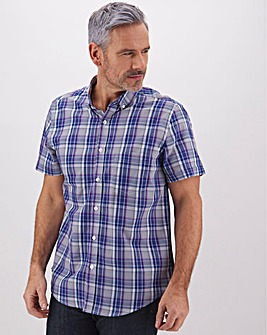 Short Sleeve Checked Shirt