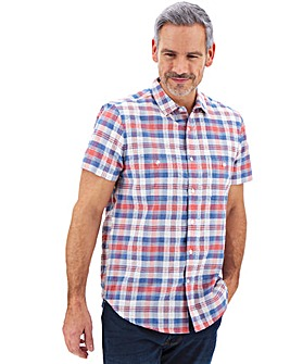 Seersucker Check Short Sleeve Shirt