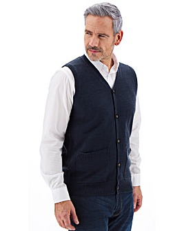 Button Front Knitted Waistcoat