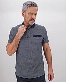 Short Sleeve Spotted Polo Shirt