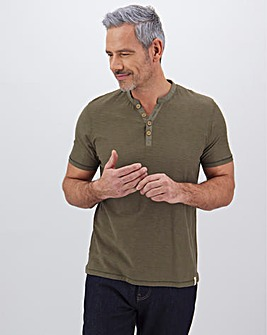 Y-Neck Short Sleeve T-Shirt